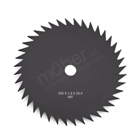 Fűnyírókés - Vágó tárcsa 40 fogú 255 x 1.5 x 25.4