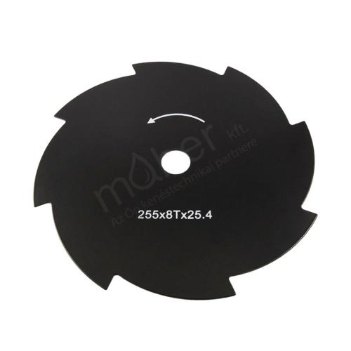 Fűnyírókés - Vágó tárcsa 8 fogú 255 x 1.5 x 25.4